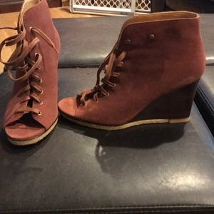 UGG sandals suede lace up cognac suede